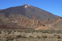 Las Caňadas, v pozadí Pico de Teide